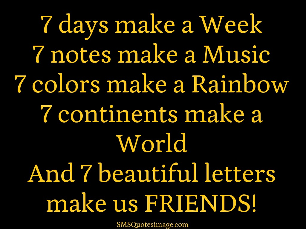 beautiful letters make us FRIENDS - Friendship - SMS Quotes Image
