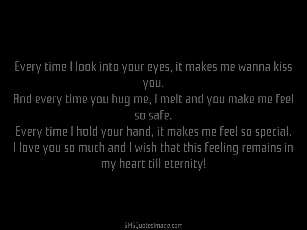 every time i look into your eyes love sms quotes image