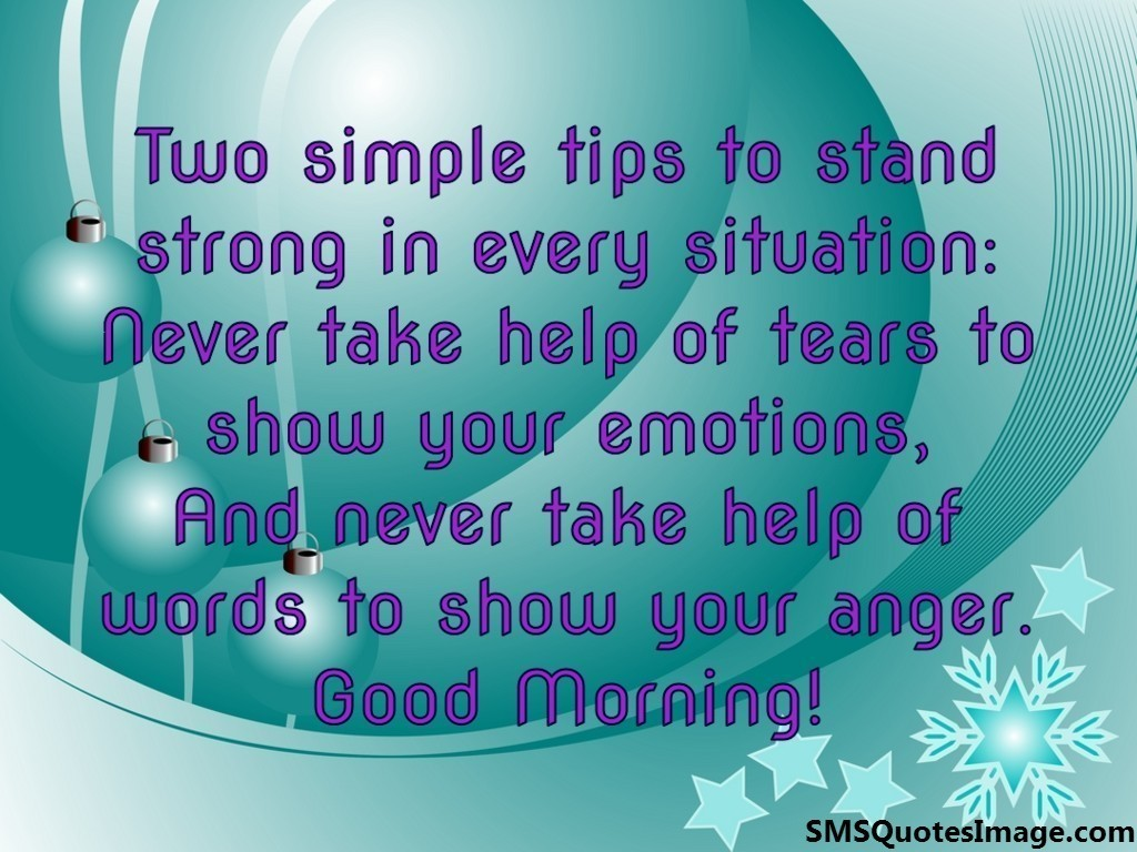 Good Morning Zombie Tips : Two simple tips to stand strong good morning sms