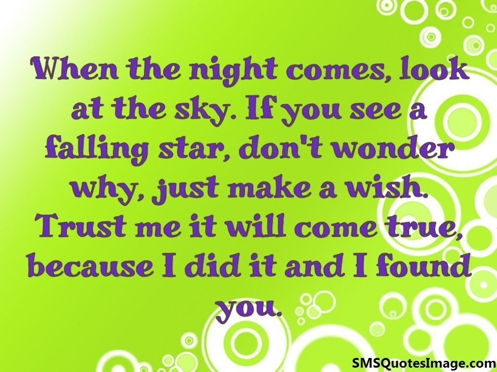 Flirt Text Quotes: When The Night Comes