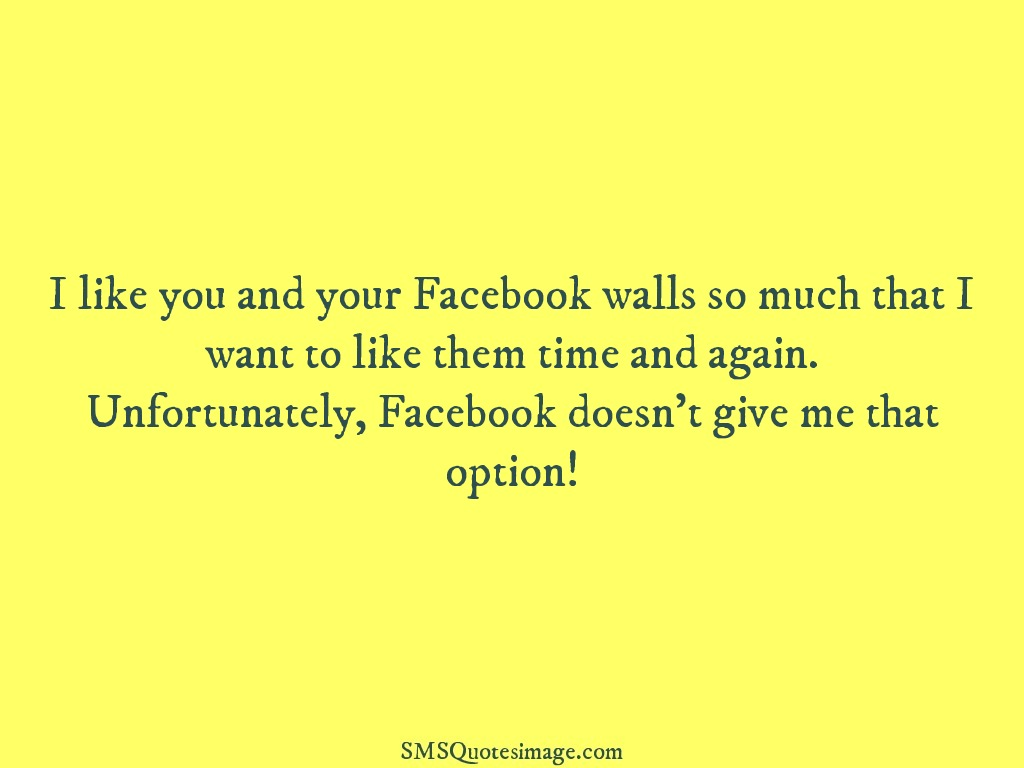 Flirt I like you and your Facebook walls