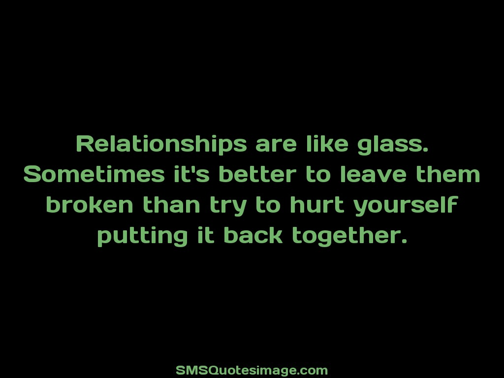 Friendship Relationships are like glass