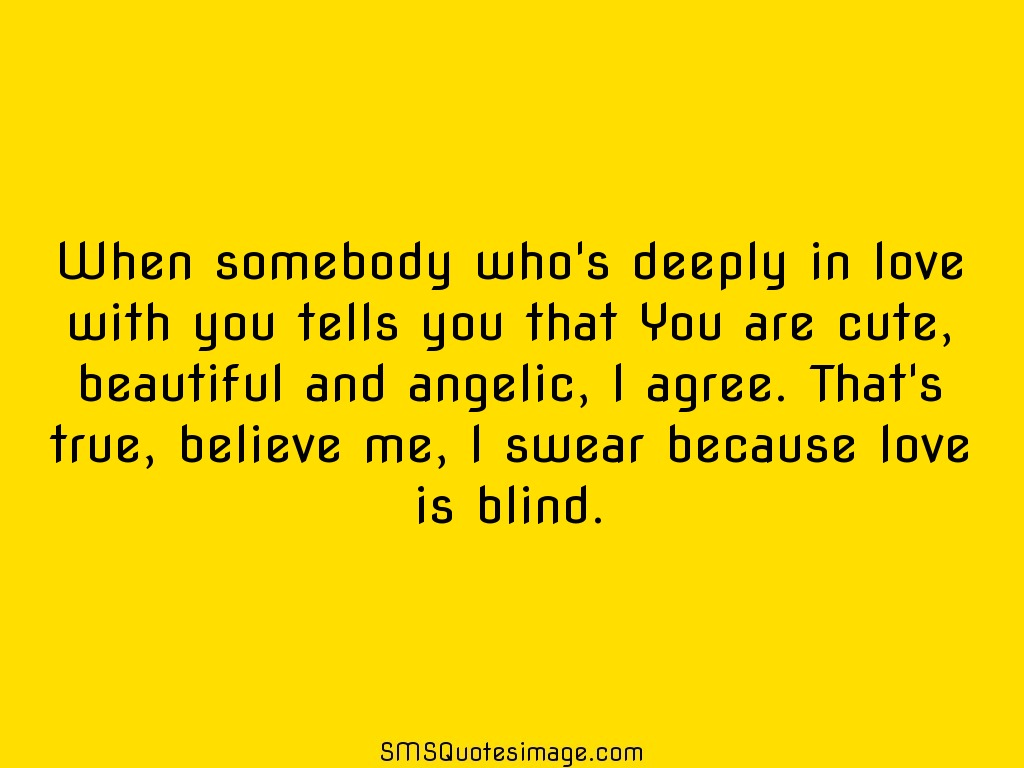 Love May Be Blind Quote