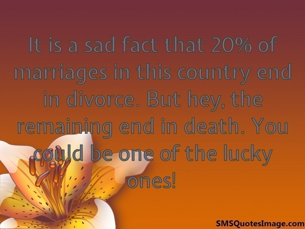 20% of marriages in this country