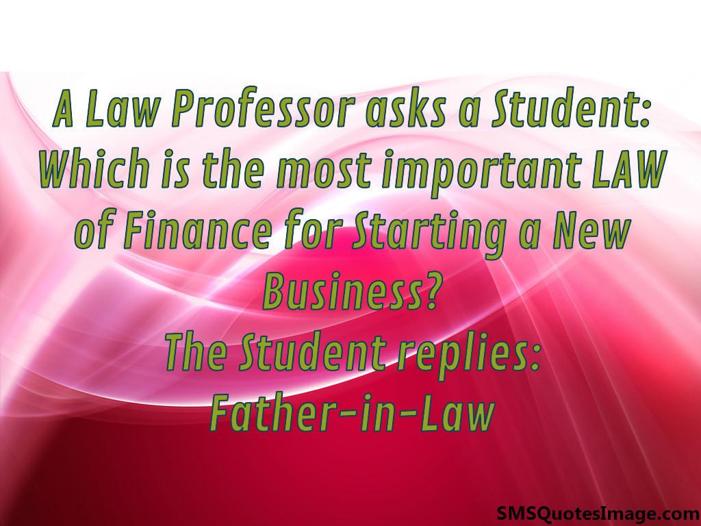 Law professor asks a student