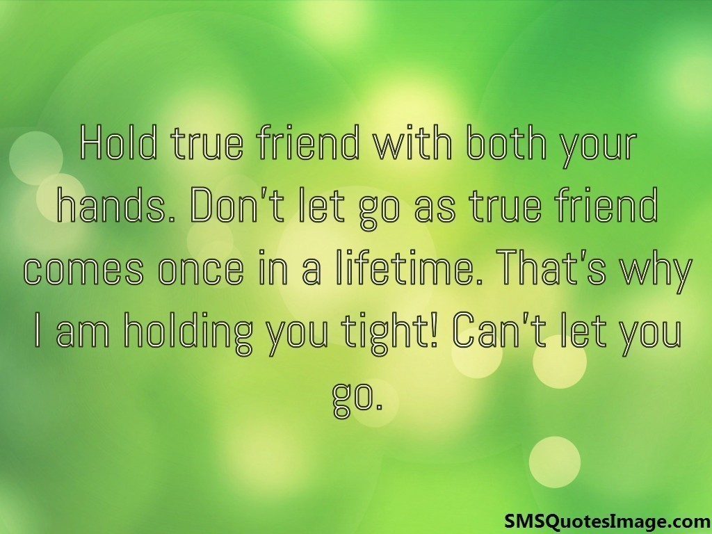 Hold true friend with