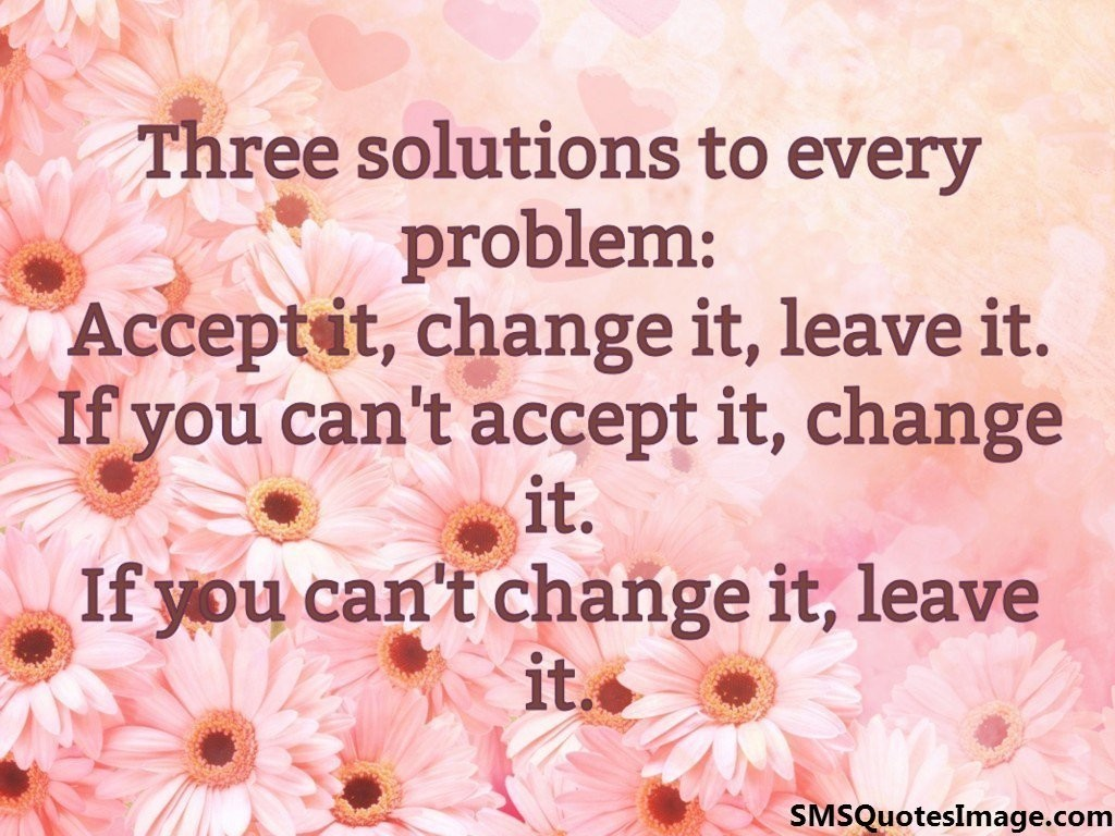 Three solutions to every problem