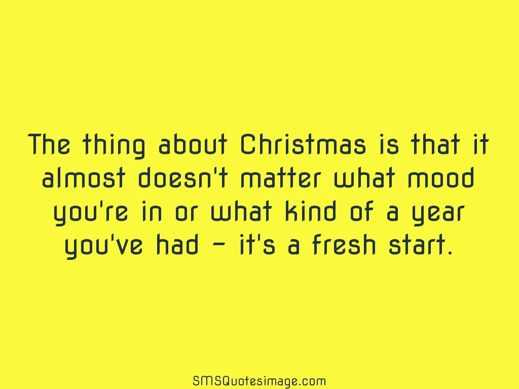 Christmas Thing about Christmas