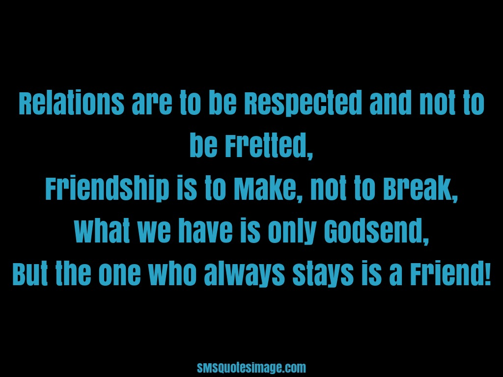 friendship and respect