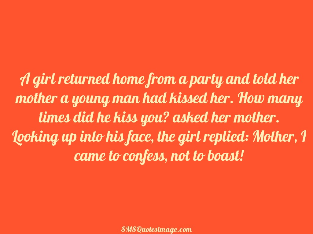 Funny A girl returned home from a party