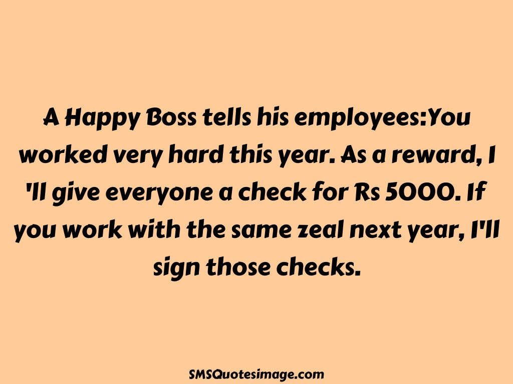 Funny A Happy Boss tells his employees