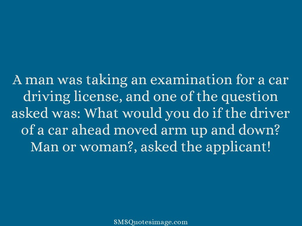 Funny A man was taking an examination