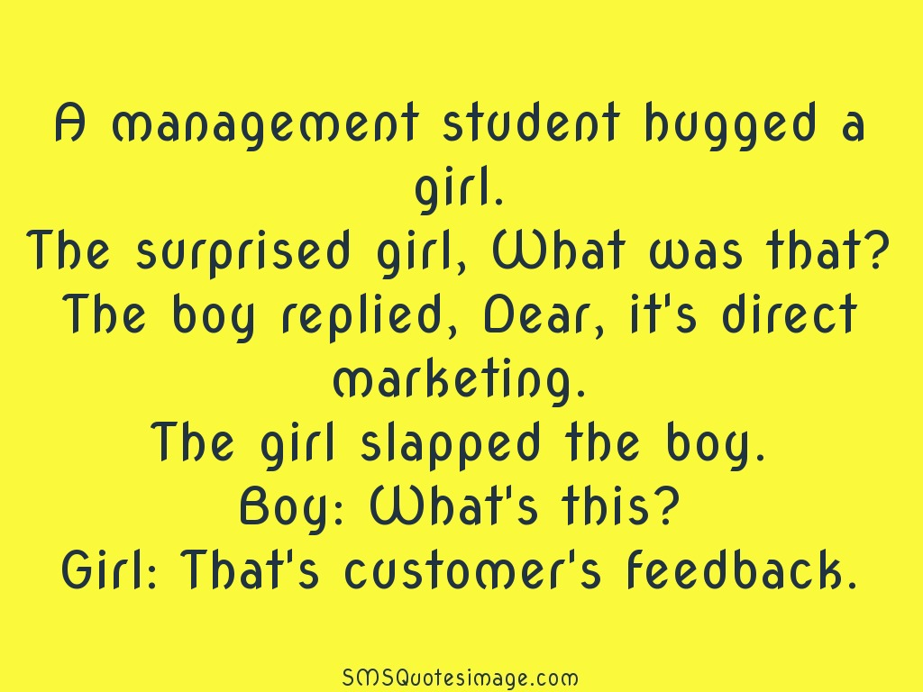 Funny A management student hugged a girl
