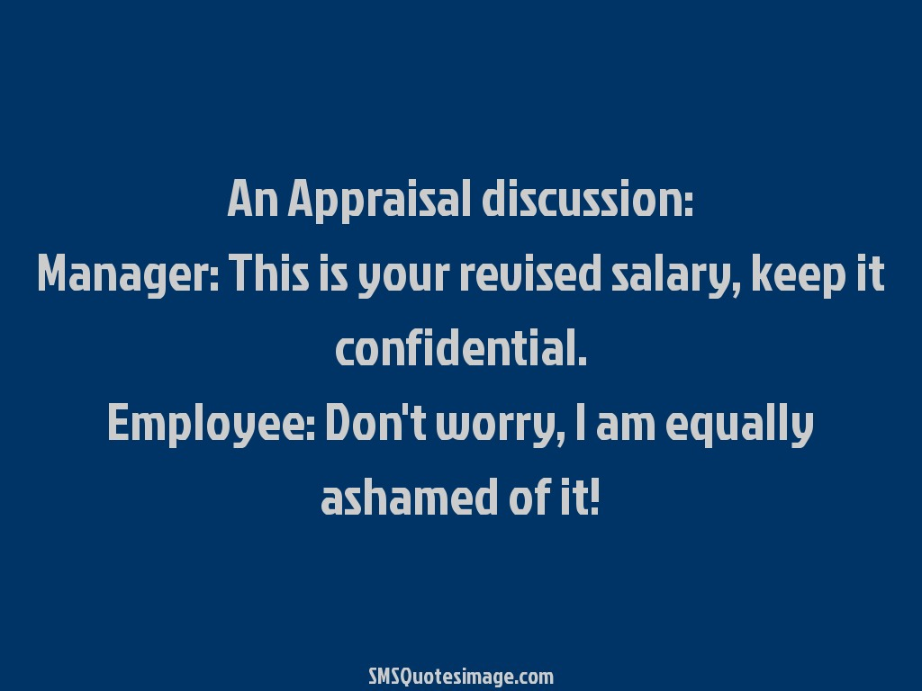 Funny An Appraisal discussion