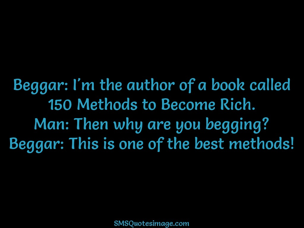 Funny Beggar: I'm the author of a book
