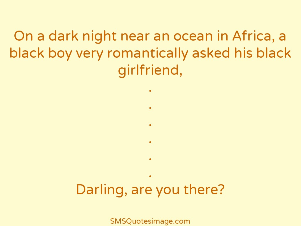Funny Black boy very romantically asked