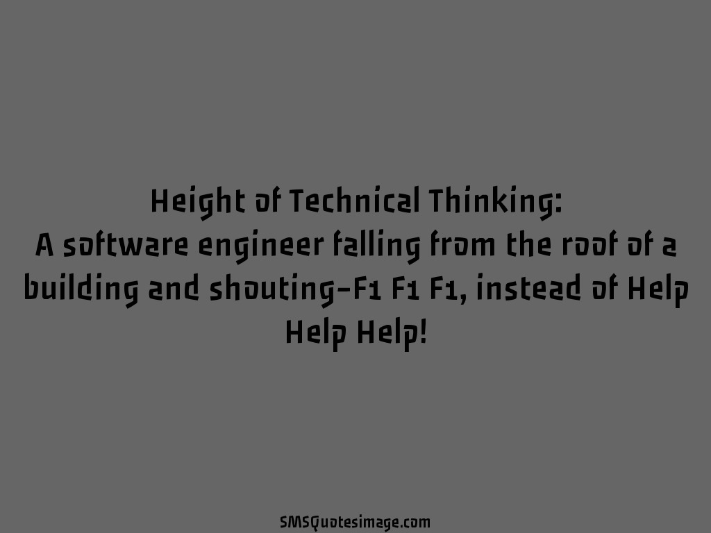 Funny Height of Technical Thinking