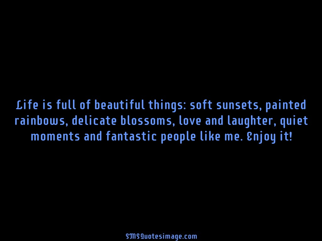 Fantastic Quotes About Life Life Is Full Of Beautiful Things  Funny  Sms Quotes Image
