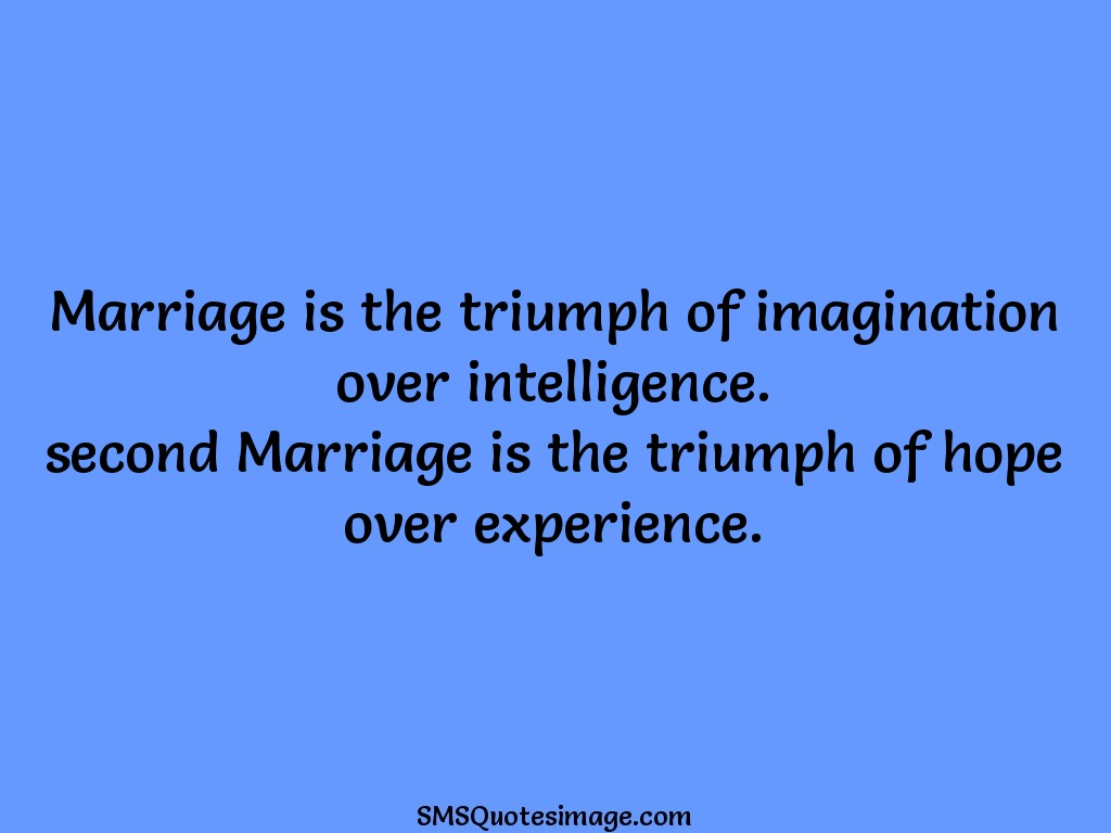 Funny Marriage is the triumph