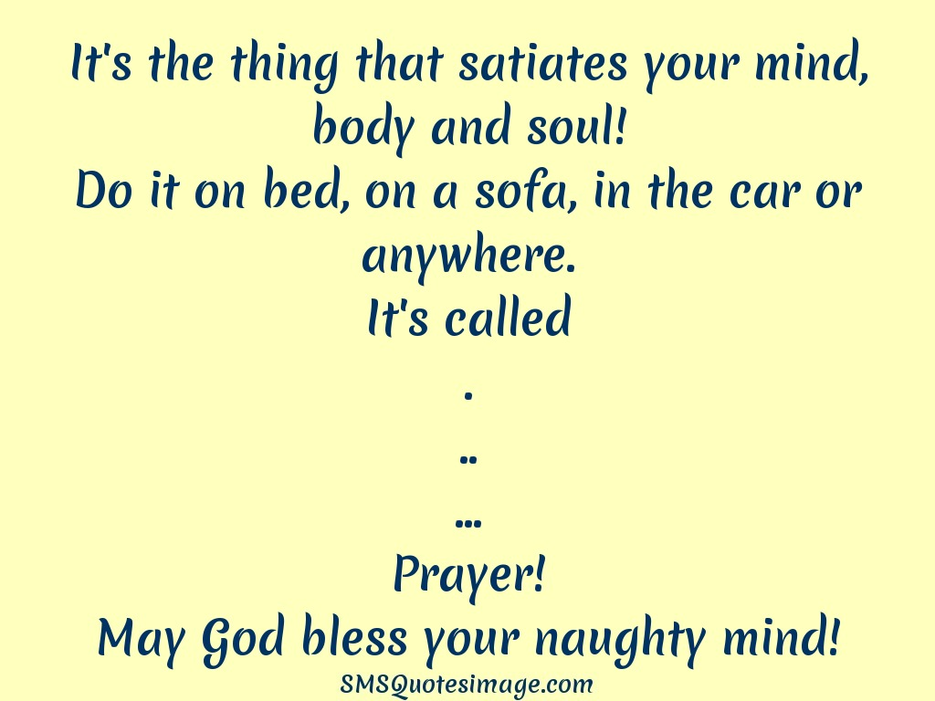Funny May God bless your naughty