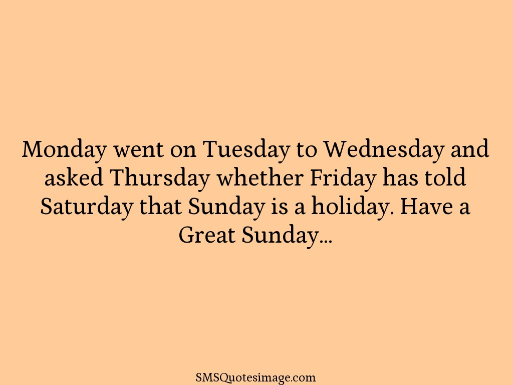 Funny Monday went on Tuesday