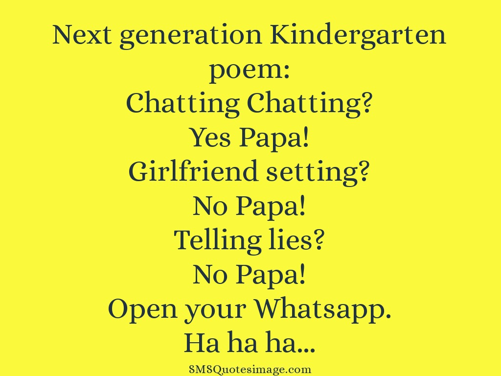 Funny Next generation Kindergarten