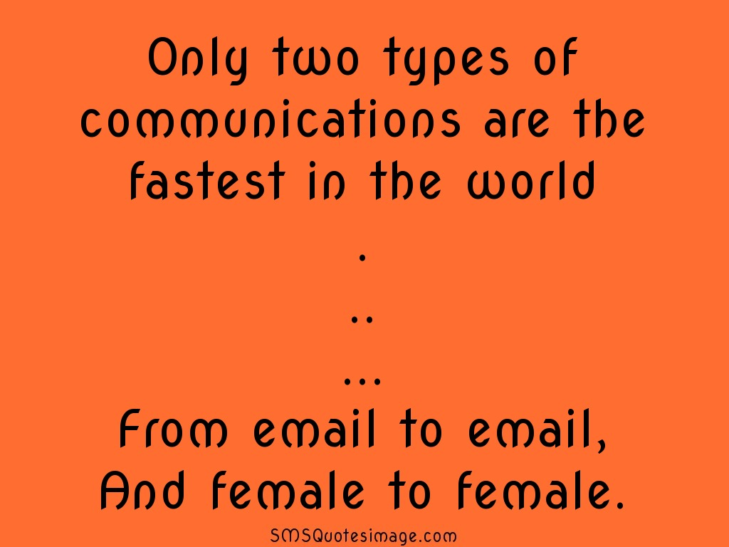 Funny Only two types of communications