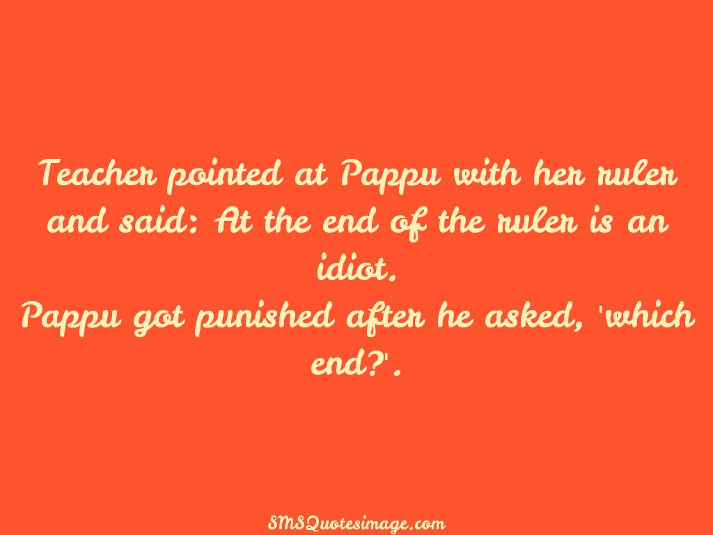 Funny Teacher pointed at Pappu