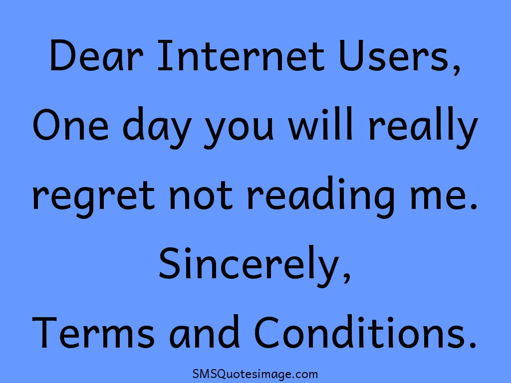 Funny Terms and Conditions