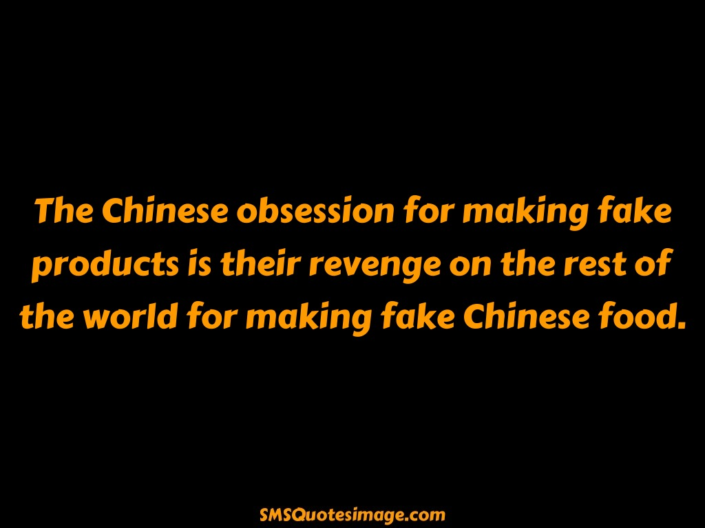 Funny The Chinese obsession for making