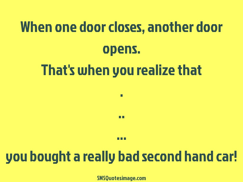 When One Door Closes Funny Sms Quotes Image