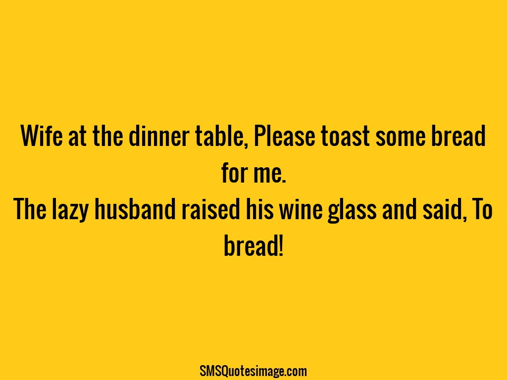 Funny Wife at the dinner table