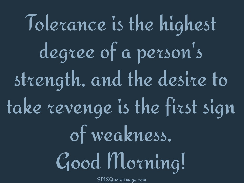 Good Morning Revenge is the first sign of