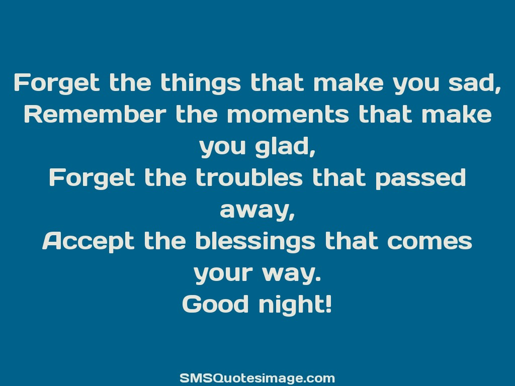 Good Night Accept the blessings that comes