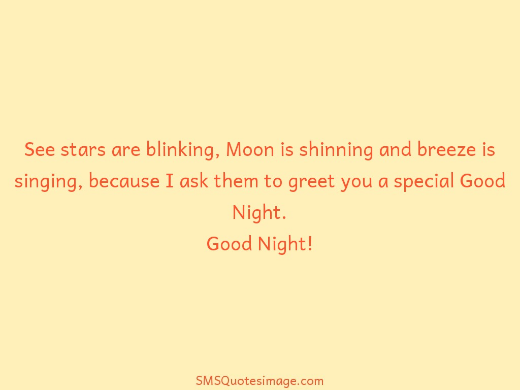 Good Night See stars are blinking