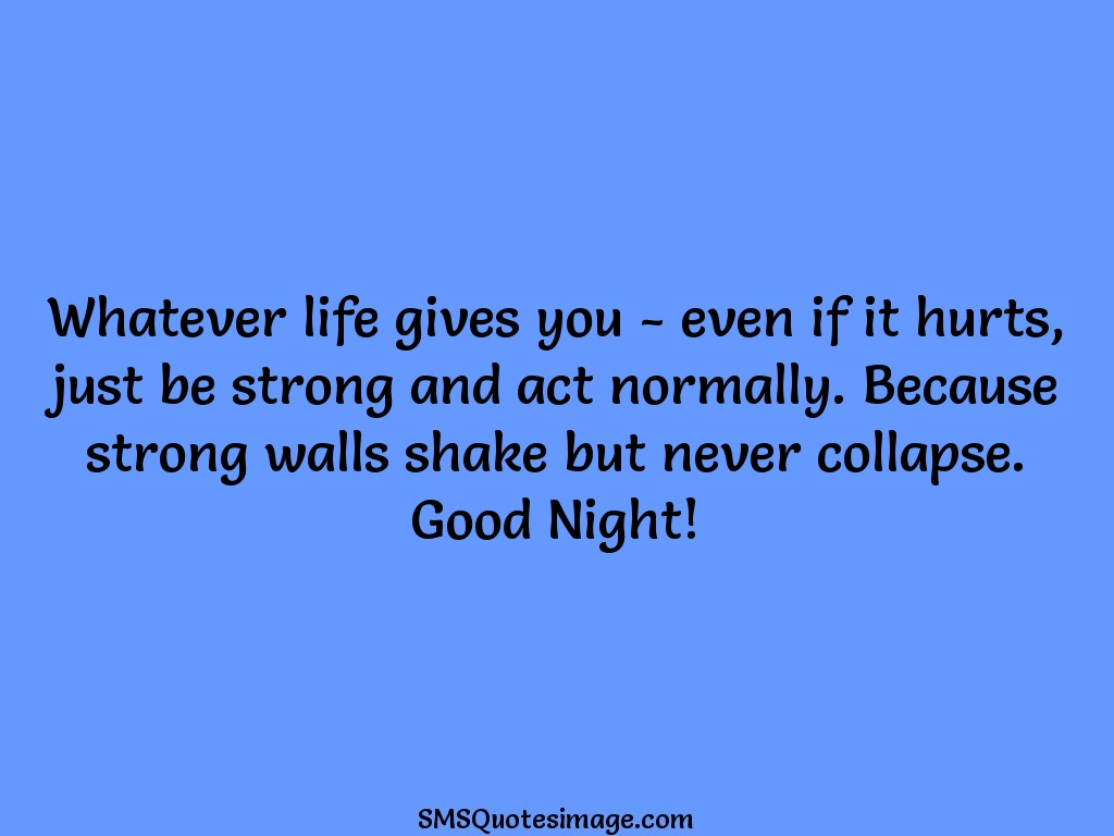 Good Night Whatever life gives you