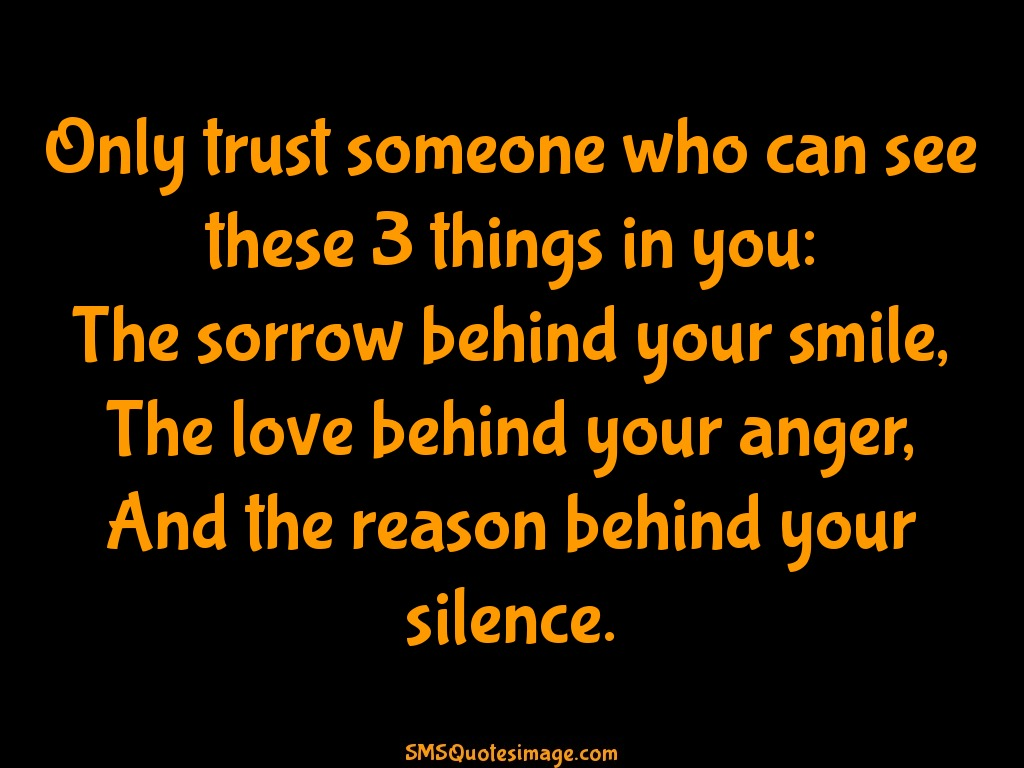 Life Only trust someone