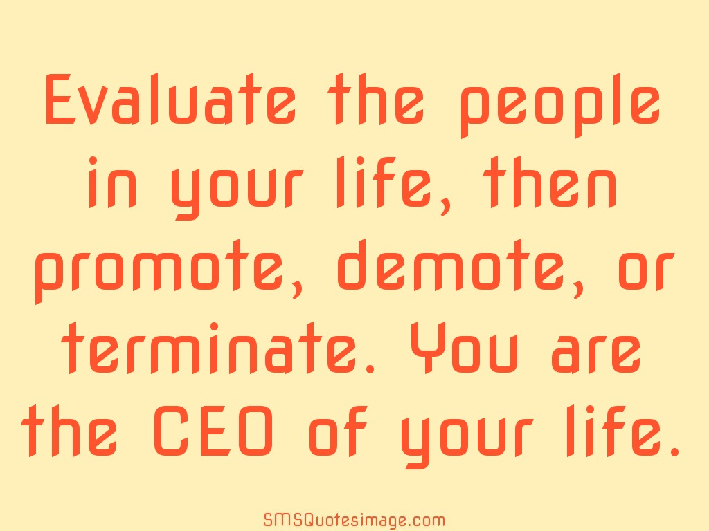 Life You are the CEO of your life