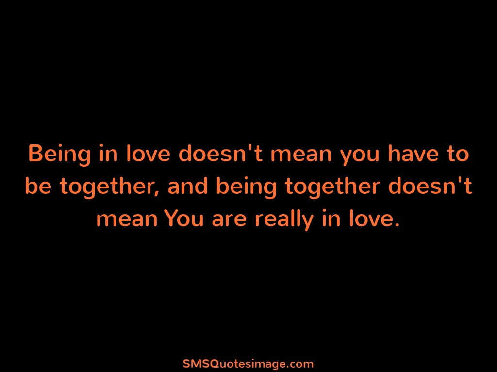Love Being in love doesn't mean