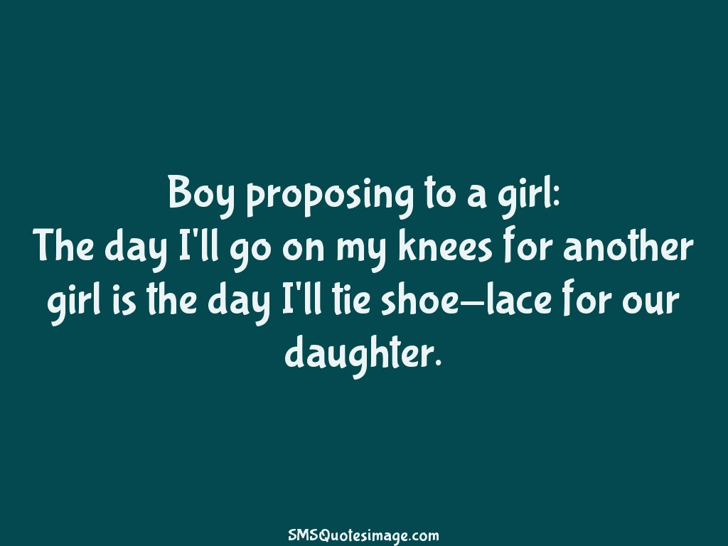 Love Boy proposing to a girl
