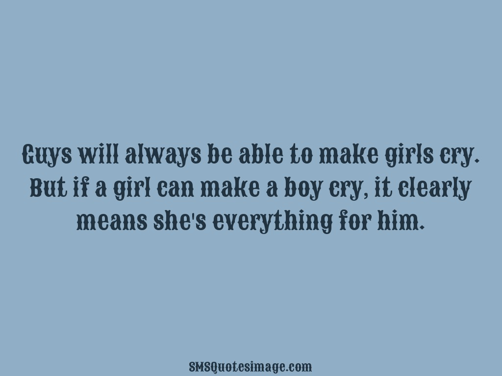 Love Guys will always be able to make