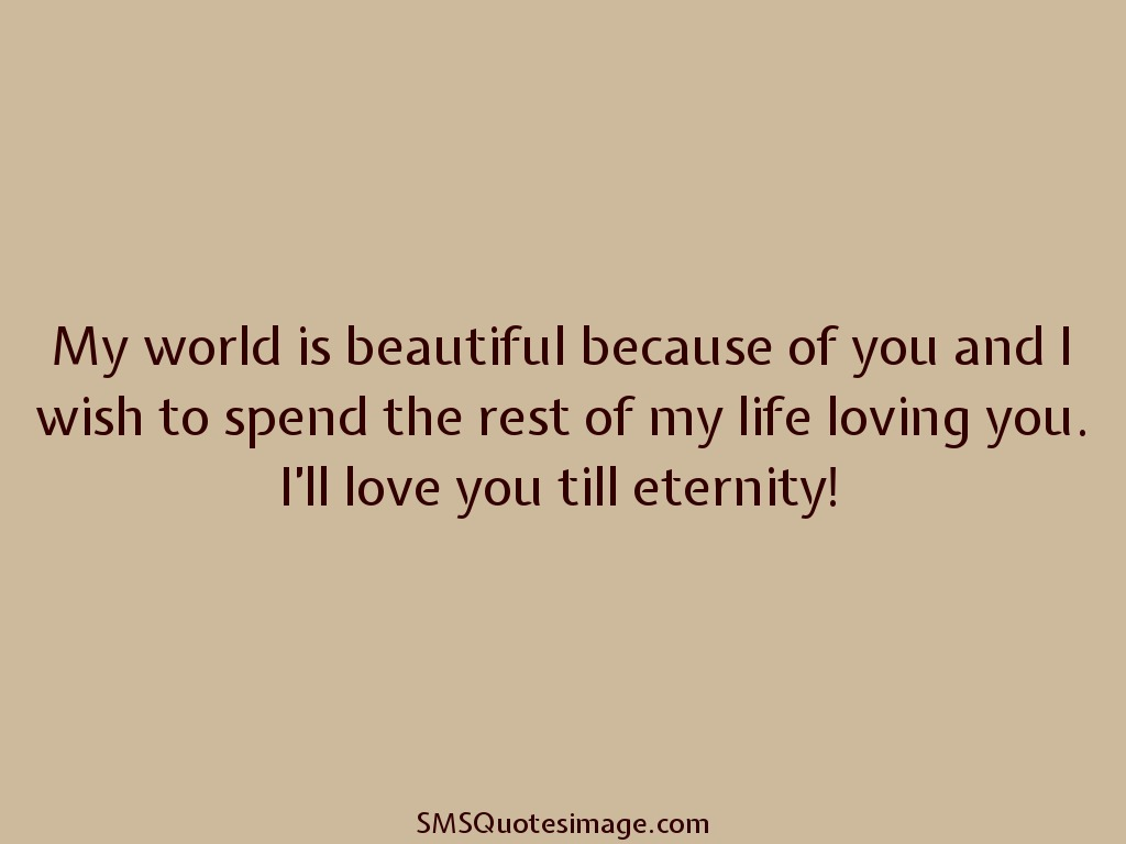 Life Love Quotes I'll Love You Till Eternity  Love  Sms Quotes Image