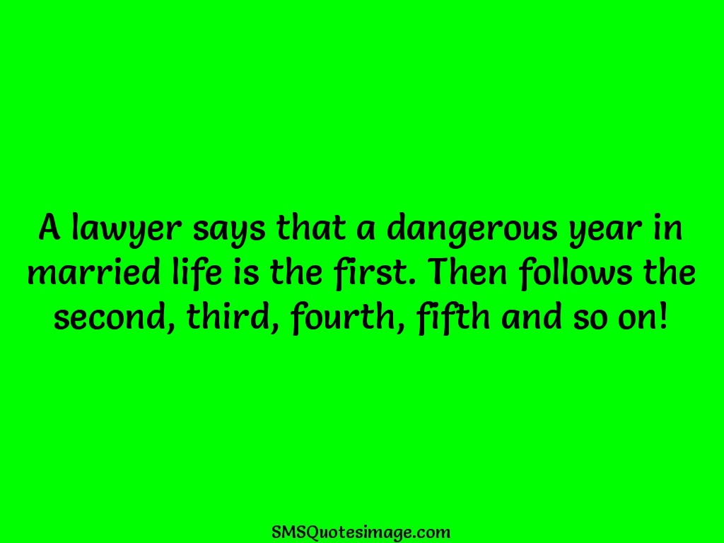 Marriage Dangerous year in married life