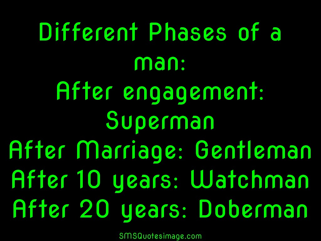 Marriage Different Phases of a man