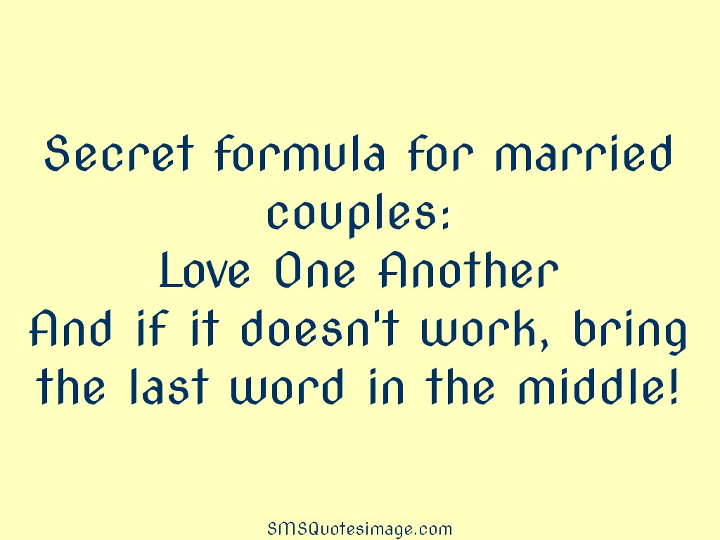 Marriage Secret formula for married couples