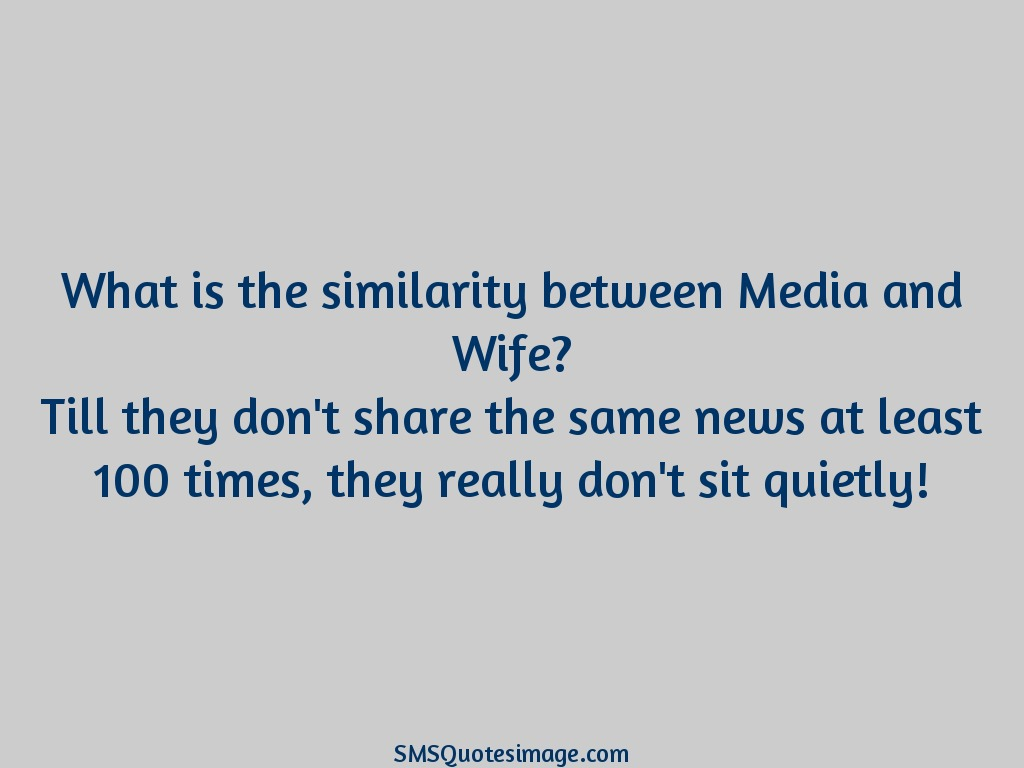 Marriage Similarity between Media and Wife