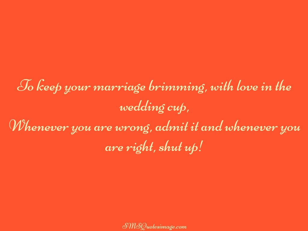 Marriage To keep your marriage brimming