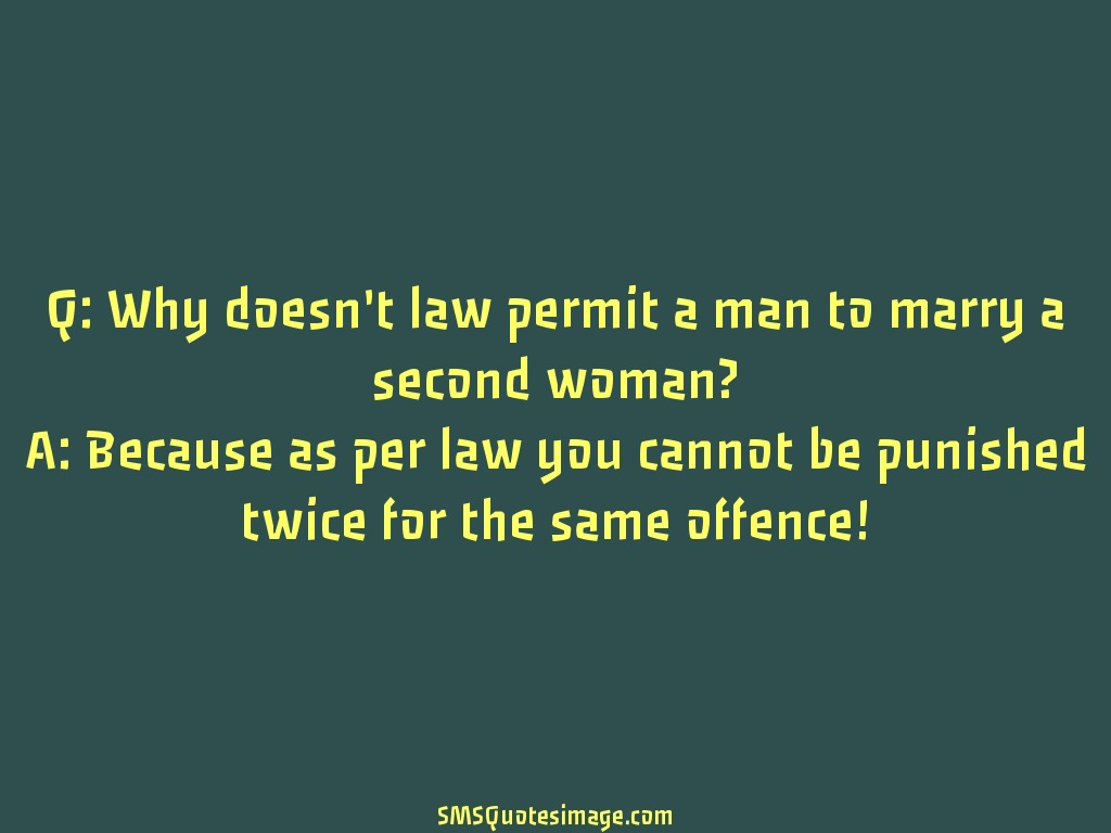 Marriage Why doesn't law permit a man