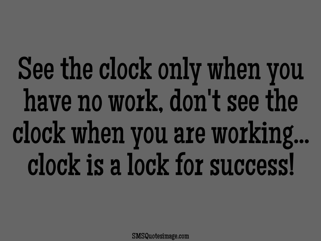 Motivational Clock is a lock for success