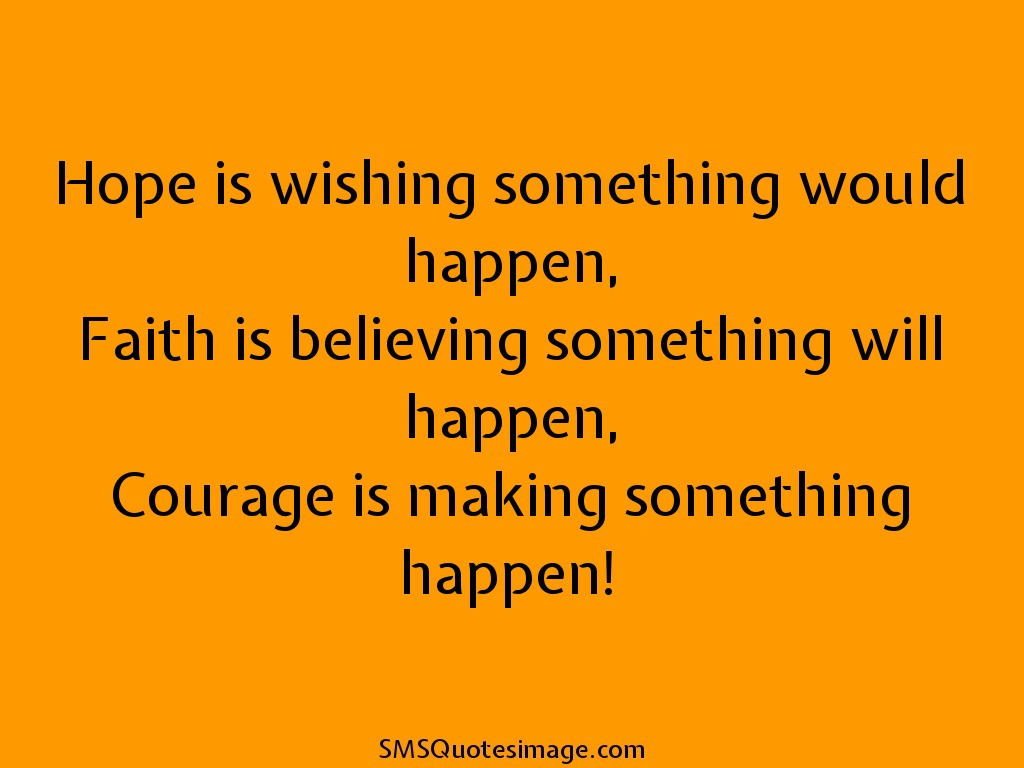 Motivational Hope is wishing something would
